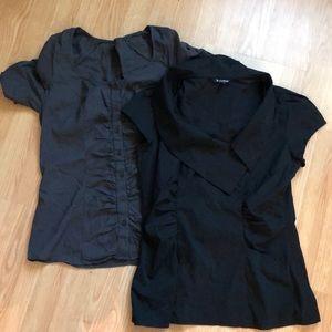 Lot of 2 Le Château blouses , size M .